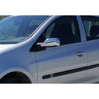 Наружняя окантовка стекол (4 шт, нерж) Carmos - турецкая сталь для Renault Clio III 2005-2012