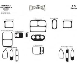Renault Symbol 1999-2008 гг. Накладки на панель Дерево