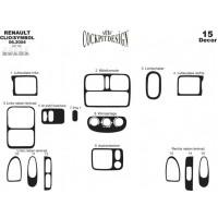 Накладки на панель Алюминий для Renault Symbol 1999-2008