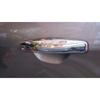 Накладки на ручки (4 шт., нерж.) OmsaLine - Итальянская нержавейка для Renault Symbol 2008-2013