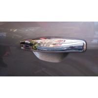 Накладки на ручки (4 шт., нерж.) Carmos - Турецкая сталь для Renault Symbol 2008-2013