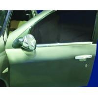 Наружняя окантовка стекол (4 шт, нерж.) для Renault Symbol 2008-2013