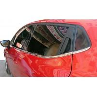 Окантовка стекол (HB, 8 шт, нерж) для Renault Clio IV 2012-2019