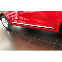 Накладки на дверной молдинг (нерж) для Renault Clio V 2019+