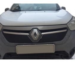 Renault Dokker 2013↗ гг. Зимняя решетка Глянцевая