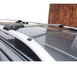 Renault Dokker 2013↗ гг. Перемычки на рейлинги под ключ (2 шт) Серый