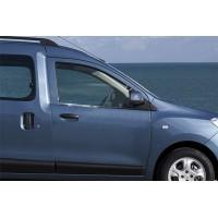 Окантовка стекол (2 шт, нерж.) OmsaLine - Итальянская нержавейка для Renault Dokker 2013+
