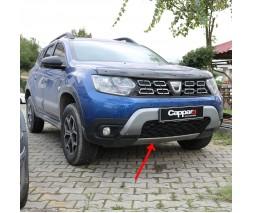 Renault Duster 2018+ гг. Накладка на передний бампер нижняя (ABS, серая)