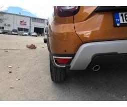 Renault Duster 2018+ гг. Накладки на задние рефлекторы 2 шт, нерж) OmsaLine - Итальянская нержавейка