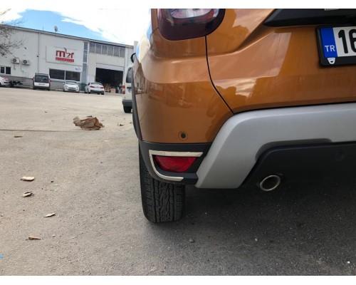 Накладки на задние рефлекторы 2 шт, нерж) OmsaLine - Итальянская нержавейка для Renault Duster 2018+