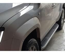 Renault Duster 2018+ гг. Боковые пороги Tayga V2 (2 шт., алюминий)