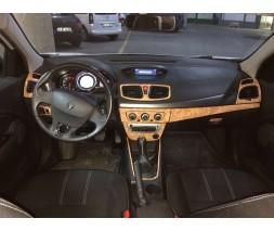 Renault Fluence 2009+ гг. Накладки на панель