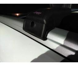 Renault Kadjar Поперечный багажник на интегрированые рейлинги (с ключем) Серые