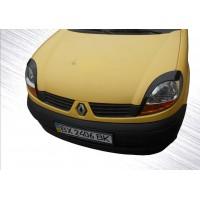 Реснички (2 шт, Черный ABS) Черный глянец для Renault Kangoo 1998-2008