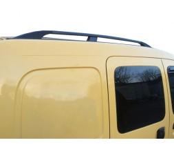 Renault Kangoo 1998-2008 гг. Рейлинги Черные Стандартная база, Пластиковые ножки