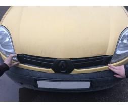 Renault Kangoo 1998-2008 гг. Зимняя решетка верхняя (2003-2008) Глянцевая