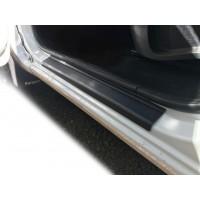 Накладки на пороги DDU (2 шт, пласт) для Renault Kangoo 2008-2019