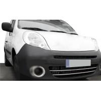 Накладки на передний бампер (2 шт, нерж) для Renault Kangoo 2008-2019