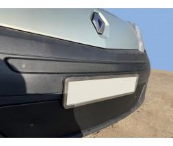 Renault Kangoo 2008-2019 гг. Зимняя верхняя решетка (2008-2013) Глянцевая