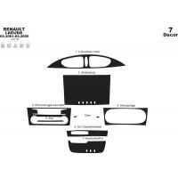 Накладки на панель (2001-2005) Черный рояль для Renault Laguna 2001-2007