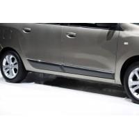 Молдинг дверной (4 шт, нерж.) для Renault Lodgy 2013+