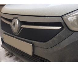 Renault Lodgy 2013+ гг. Зимняя решетка (матовая)