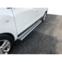 Боковые пороги Maya V2 (2 шт., алюминий) для Renault Lodgy 2013+