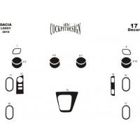 Накладки на панель Дерево для Renault Lodgy 2013+