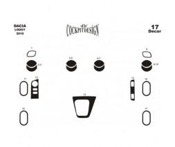 Renault Lodgy 2013+ гг. Накладки на панель Дерево