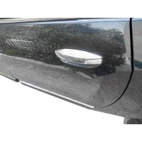 Накладки на ручки (4 шт., нерж.) OmsaLine - Итальянская нержавейка для Renault Lodgy 2013+