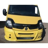 Передний бампер (накладка, под покраску) для Renault Master 2004-2010