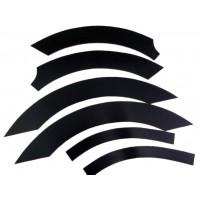 Накладки на колесные арки (6 шт, пластик) для Renault Master 2004-2010