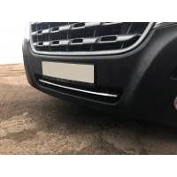 Полоска в бампер (нерж) для Renault Master 2011+