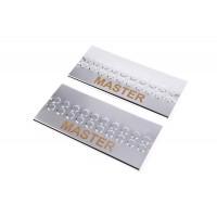Накладки на пороги V3 (2 шт, нерж.) для Renault Master 2011+