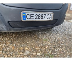 Renault Master 2011+ гг. Зимняя решетка (нижняя) Глянцевая