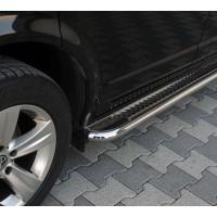 Боковые пороги Premium (2 шт., нерж.) 70 мм, средняя база для Renault Master 2011+