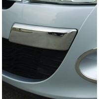 Углы на передний бампер (нерж) для Renault Megane III 2009-2016