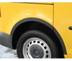 Renault Megane III 2009-2016 гг. Накладки на арки (4 шт, черные) SW, ABS - пластик (2008-2012)