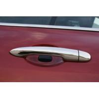 Накладки на ручки (4 шт, нерж) OmsaLine - Итальянская нержавейка для Renault Modus 2005+