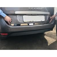 Кромка багажника (нерж.) Carmos - Турецкая сталь для Renault Scenic/Grand 2009-2016