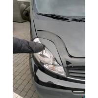 Реснички Porshe-style Черный мат для Renault Trafic 2001-2015
