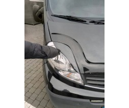 Renault Trafic 2001-2015 гг. Реснички Porshe-style Черный мат