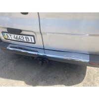 Накладки на задний бампер С загибом (Carmos, сталь) для Renault Trafic 2001-2015