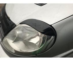Renault Trafic 2001-2015 гг. Реснички Fly-style Черный мат