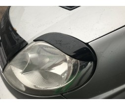 Renault Trafic 2001-2015 гг. Реснички Fly-style Черный лак