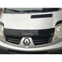 Renault Trafic 2001-2015 Дефлектор капота короткая (VIP)