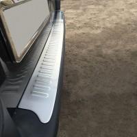 Накладки на задний бампер Матовая (Omsa, нерж.) для Renault Trafic 2001-2015