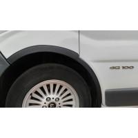 Накладки на колесные арки (4 шт, черные) 2001-2007, черный пластик для Renault Trafic 2001-2015