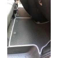 Полиуретановые коврики (2 шт, EVA, черные) для Renault Trafic 2015+
