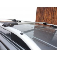 Перемычки на рейлинги под ключ (2 шт) Черный для Seat Alhambra 1996-2010